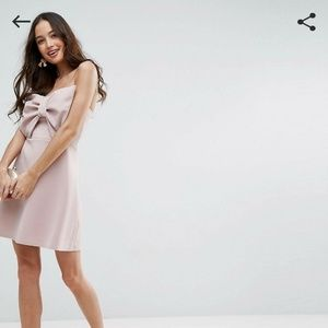 NWT Asos Strapless Mini Dress with Bow Front